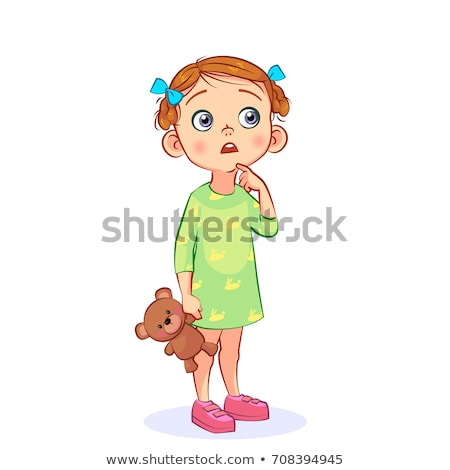 Thoughtful little girl with hand to mouth Stock photo © Giulio_Fornasar