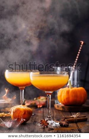 halloween · cocktail · pompoenen · decoratie · partij · voedsel - stockfoto © Illia