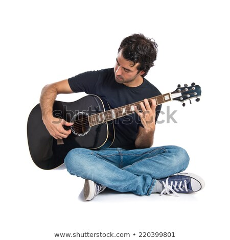 guitariste · jouer · guitare · instrument · hobby · vecteur - photo stock © robuart