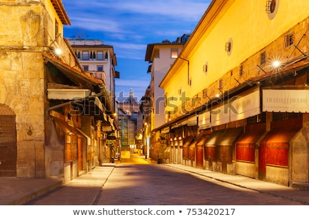 Ponte Vecchio in evening, Florence, Italy Stock photo © borisb17