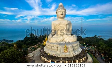 Stok fotoğraf: Big Buddha Statue Was Built On A High Hilltop Of Phuket Thailand Can Be Seen From A Distance