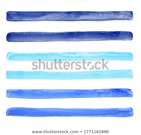 suluboya · mavi · kar · taneleri · beyaz · el · boyalı - stok fotoğraf © natalia_1947
