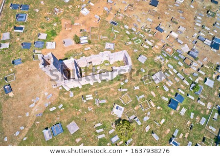 Historic church of Holy Salvation ruins and historic graveyard   stock photo © xbrchx