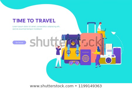 Promo poster illustrating business around the world. Stock photo © ConceptCafe