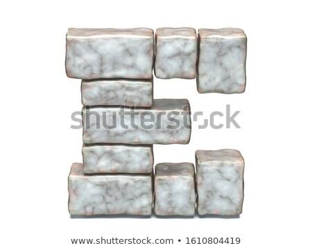 Rock kamieniarstwo chrzcielnica 3D 3d Zdjęcia stock © djmilic