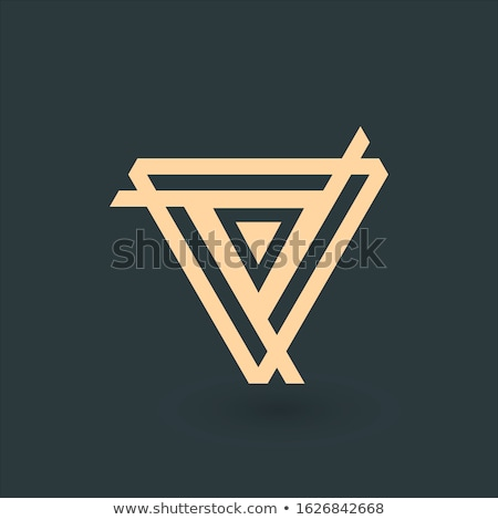 Creative or futuriste triangle symbole design Photo stock © kyryloff