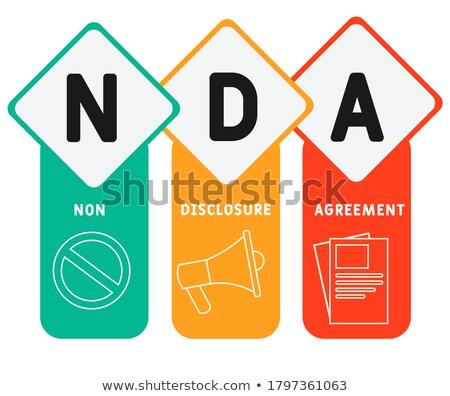 Nondisclosure agreement concept landing page Stock photo © RAStudio