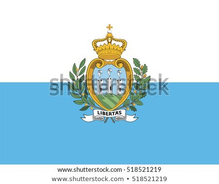 San Marino flag, vector illustration on a white background Stock photo © butenkow