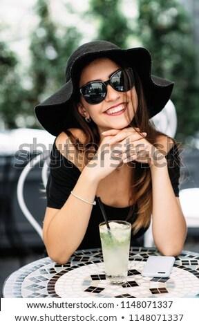Bastante cal foto feliz optimista Foto stock © deandrobot