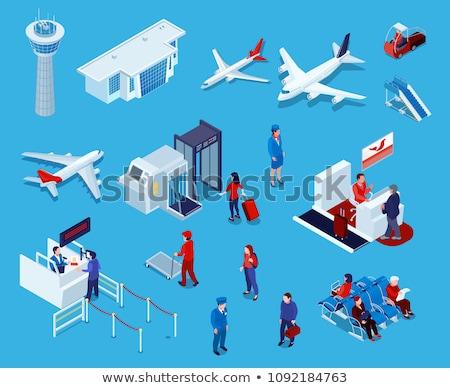 Paspoort controle controleren isometrische vector Stockfoto © pikepicture