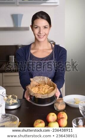 woman presenting apple stock photo © smithore