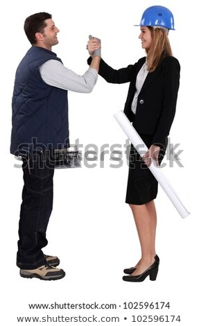Architect shaking hands with a tiler Stock photo © photography33