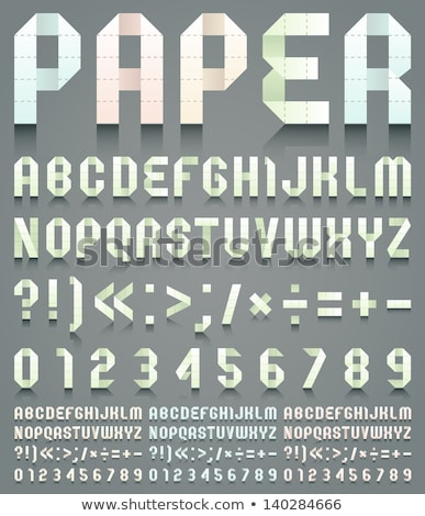 Stock photo: Font folded from green paper - Arabic numerals
