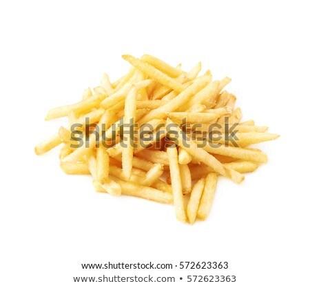Patates kızartması beyaz gıda restoran yeme Stok fotoğraf © przemekklos