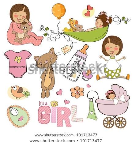 yeni · bebek · duş · çiçek · doğum · günü - stok fotoğraf © balasoiu
