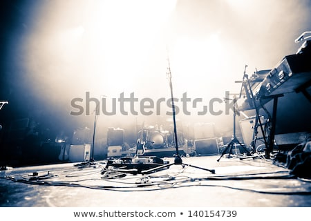 microphone and lights shows mic concert performance or music sho stock photo © stuartmiles
