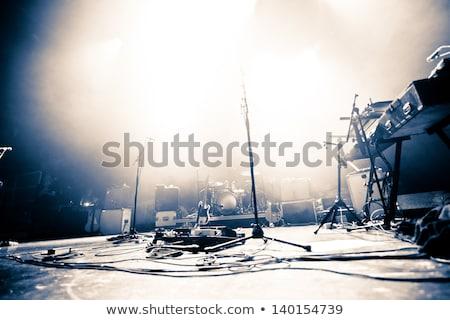 luces · micrófono · concierto · entretenimiento · música - foto stock © stuartmiles