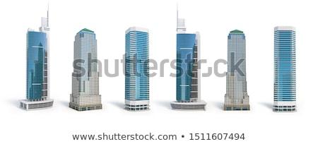 Modern gebouw geïsoleerd witte gebouw corporate college Stockfoto © cherezoff