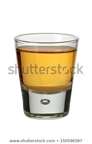 Filled Shot Glass on a white background Stock photo © Zerbor