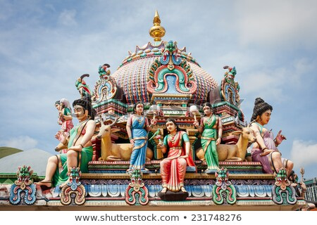 Templom Szingapúr színek Ázsia imádkozik dekoráció Stock fotó © tang90246