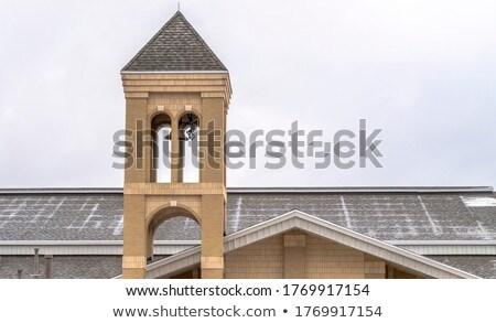 Alto sino torre branco preto telhado Foto stock © mayboro1964