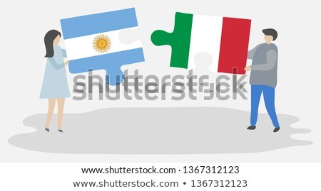 Argentina and Italy Flags in puzzle Stock photo © Istanbul2009
