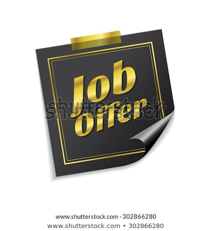 Job Offer golden Vector Icon Design Stock photo © rizwanali3d