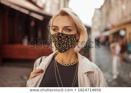 gyönyörű · divatos · nő · utca · napos · idő · modell - stock fotó © artfotoss
