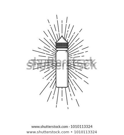 личные жидкость Label Знак вектора искусства Сток-фото © vector1st