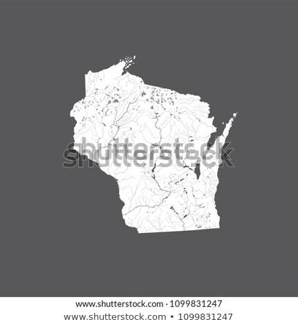 Map of Lake Winnebago Stock photo © rbiedermann