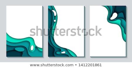 stylish blue papercut background design Stock photo © SArts