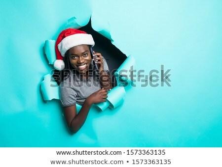 молодые африканских женщину купальник Сток-фото © deandrobot