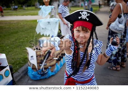 young boy dressed as pirate stock photo © acidgrey