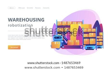 Warehousing robotization concept vector illustration Stock photo © RAStudio