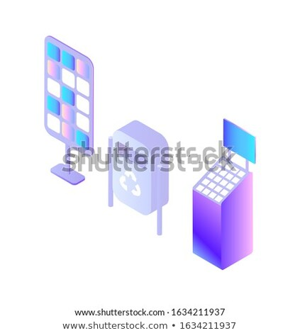 Container for Garbage Bin, Digital Devices Set Stock photo © robuart