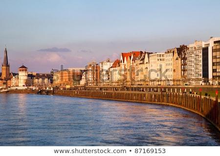 embankment in dusseldorf germany stock photo © borisb17