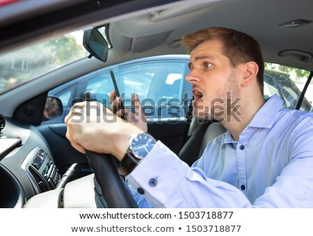 Driver Had Almost Accident While Using Phone Stock photo © AndreyPopov