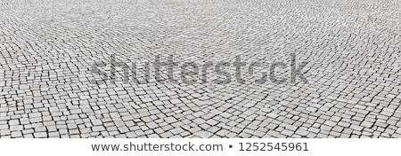 Stockfoto: Oude · rustiek · steen · trottoir · bouwkundig