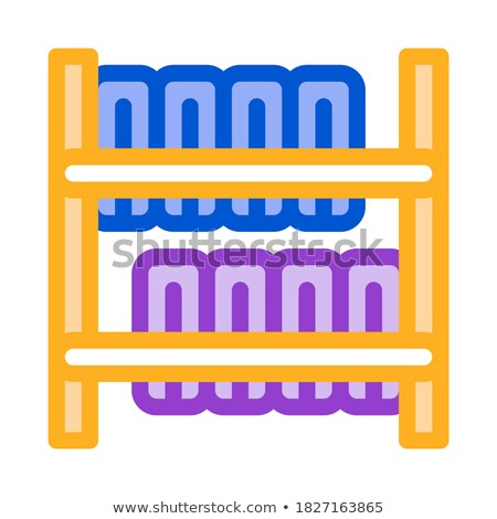 tire warehouse icon vector outline illustration Stock photo © pikepicture