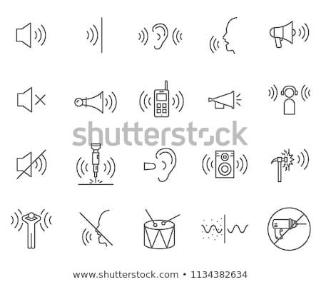 Vecteur sonores symbole icône isolé technologie Photo stock © nickylarson974