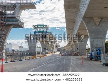 橋 道路工事 鋼 具体的な 列 空 ストックフォト © vapi