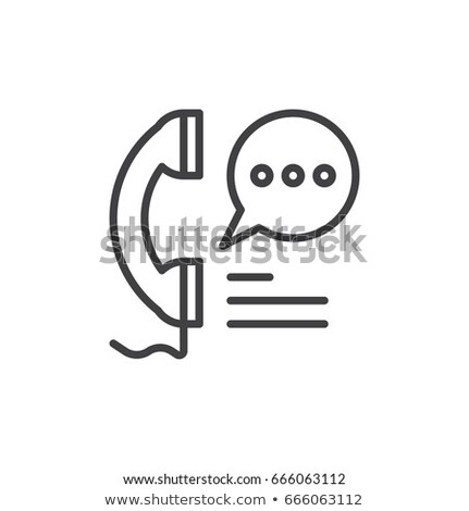Phone icon, Handset icon in linear style with editable stroke. Telephone symbol for your design, log Stock photo © kyryloff