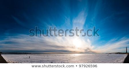 sun and clouds in blue sky over peace sea Stock photo © marinini