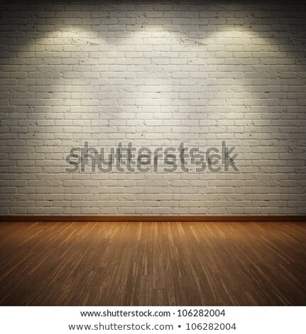 vintage wooden wall with a spot illumination. Stock photo © m_pavlov