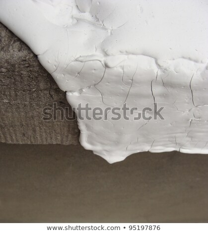 detail of fat crackled white paint leaking down on stone Stock photo © Melvin07
