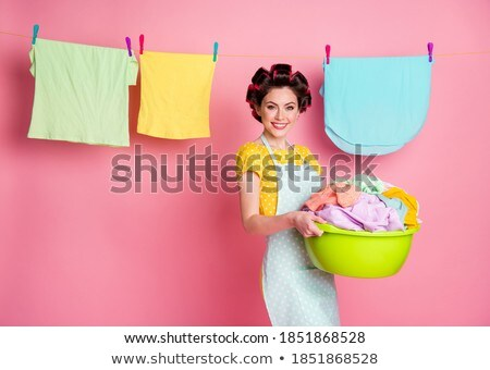 ropa · interior · imagen · dos · toallas · colgante · fuera - foto stock © ssuaphoto