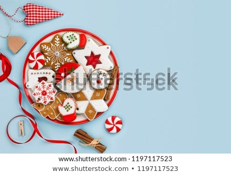gourmet cookies with blue ribbon Stock photo © M-studio