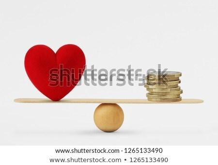 любви деньги красивая женщина рук сердце форме Сток-фото © joseph73