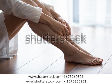 Kadın bacaklar stoklama zarif ayakkabı Stok fotoğraf © nyul