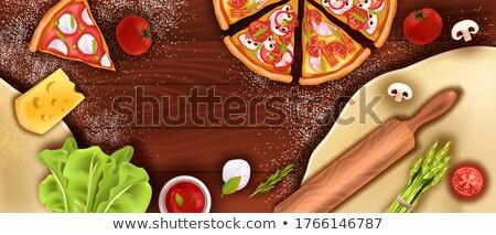 Pizza najlepszy mały chłopca jedzenie Zdjęcia stock © zhekos